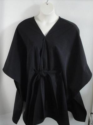 Shandra Soft Shell Fleece Cape - Black/Black | Outerwear/Capes