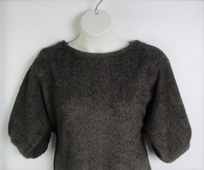 Jan Sweater - Brown Chenille Fleece Sweater Knit | Sweaters