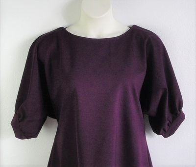 Libby Shirt - Plum Ponte | 3/4 Sleeve Shirts