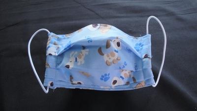 Light Blue Dogs Face Mask | Washable Face Masks