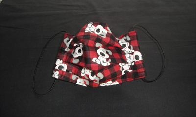 Red Plaid Dog Face Mask | Washable Face Masks