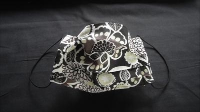 Brown/Black Floral Face Mask | Washable Face Masks