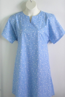 Erin Nightgown - Blue Stars | Woven Fabric Gowns