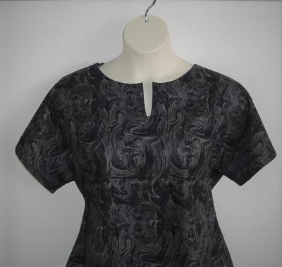 Black/Gray Marble Cotton Post Surgery Cotton Gracie Shirt