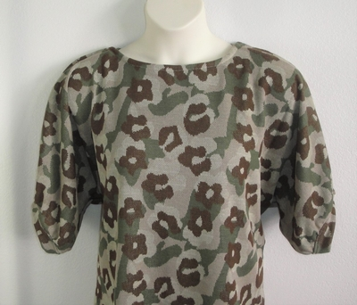 Libby Shirt - Floral Camo Poly Knit | 3/4 Sleeve Shirts