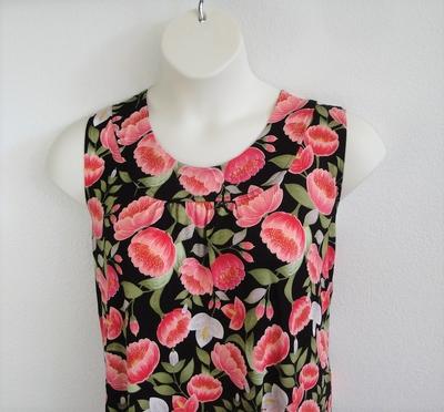 Sara Shirt - Coral Poppy Rayon Knit | Cotton/Rayon Blend