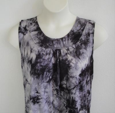 Sara Shirt - Black Tie Dye Rayon Knit | Cotton/Rayon Blend