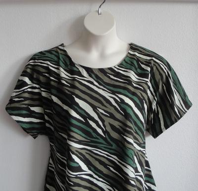 Tracie Shirt - Zebra Camo Cotton Knit (XS-M only) | Knits