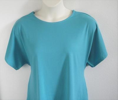 Tracie Shirt - Aqua Cotton Knit | Knits