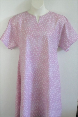 Mauve Pink Butterfly Post Surgery Nightgown - Erin