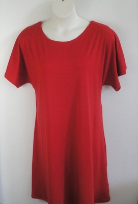 Orgetta Nightgown - Red Cotton Blend Knit | Knit Gowns