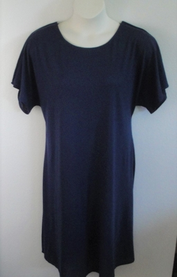 Navy Rayon Knit Post Surgery Gown - Orgetta