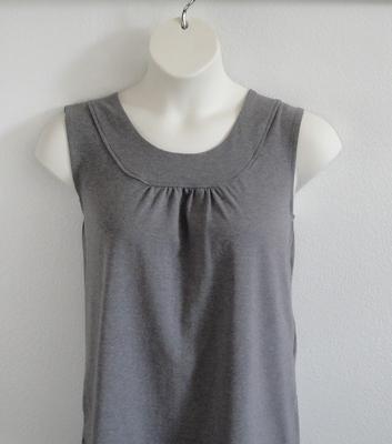 Sara Shirt - Gray Cotton Knit | Cotton/Rayon Blend