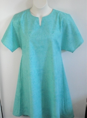 Erin Nightgown - Mint Green Dot | Woven Fabric Gowns