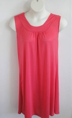 Heidi Nightgown - Salmon Rayon Knit | Sleeveless Gowns