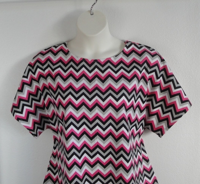 Pink/Black Chevron Flannel Post Surgery Shirt - Tracie