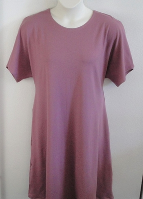 Orgetta Nightgown - Mauve Pink Cotton Knit | Knit Gowns