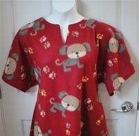 Image Abby FLEECE Nightgown - Rust Puppy