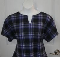 Image Cathy FLEECE Shirt - Purple/Black Plaid