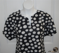 Image Cathy FLEECE Shirt - Black/White Dot