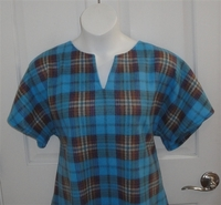 Image Cathy FLEECE Shirt - Turquoise Plaid