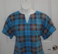 Image Cathy FLEECE Shirt - Turquoise Plaid
