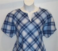 Image Cathy FLEECE Shirt - Denim Blue Plaid