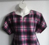 Image Cathy FLEECE Shirt - Pink/Black Plaid