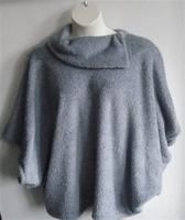 Image Emily Side Opening Sweater - Steele Gray Chenille Fleece