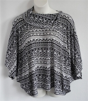 Image Emily Side Opening Sweater - Black/White Aztec