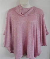Image Emily Side Opening Sweater - Pink/White Heather (L, 2X & 3X only)