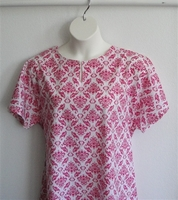 Image Erin Nightgown - Pink/White Geometric