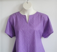 Image Gracie Shirt - Purple Triangles