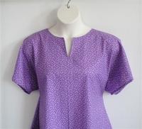 Image Gracie Shirt - Purple Triangles