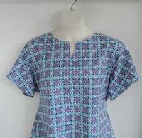 Image Gracie Shirt - Teal/Purple Geometric