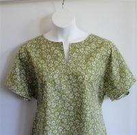 Image Gracie Shirt - Olive Green Floral
