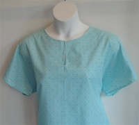 Image Gracie Shirt - Turquoise Diamond Geometric
