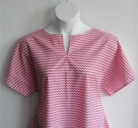Image Gracie Shirt - Pink/White Chevron