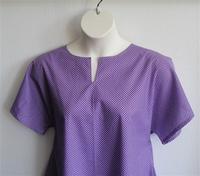 Image Gracie Shirt - Purple Small Dot