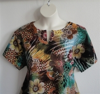 Image Gracie Shirt - Multi Green Floral