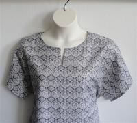 Image Gracie Shirt - Gray Fleur