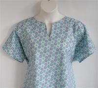 Image Gracie Shirt - Aqua Floral Burst