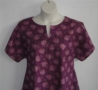 Image Gracie Shirt - Gold/Purple Floral