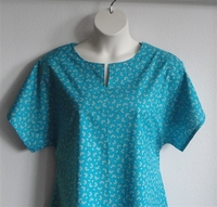 Image Gracie Shirt - Petite Turquoise Floral