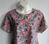 Image Gracie Shirt - Coral/Navy Floral