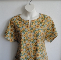 Image Gracie Shirt - Green Sunflower