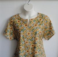 Image Gracie Shirt - Green Sunflower