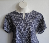 Image Gracie Shirt - Navy/Gray Floral
