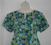 Image Gracie Shirt - Turquoise/Lime Medallion Floral