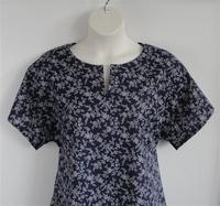 Image Gracie Shirt - Navy Floral Vine